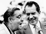 Pres Richard Nixon with Comedian Jackie Gleason, Feb 19, 1973 Photo