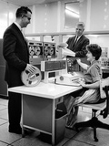 IBM Computerizing Magazine Subscriptions in 1962 Photographic Print