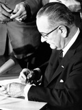 President Lyndon Johnson Signing the 1964 Civil Rights Bill, July 2, 1964 Photo