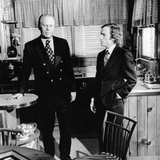 Vice Pres Gerald Ford in Kitchen of Alexandria, Virginia, Home with Talk Show Host Dick Cavett Photo