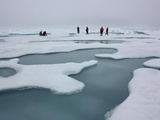 Climate Scientists Studying Arctic Sea Ice and Melt Ponds in the Chukchi Sea, July 4, 2010 Photographic Print