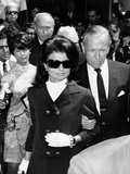 Jacqueline Kennedy Leaving New York for Los Angeles for the Bedside of Senator Robert Kennedy Photographic Print