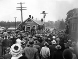 President-Elect Franklin Roosevelt Was Greeted by a Crowd at the Warm Springs Railroad Station Photographic Print