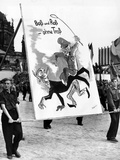 Communist Youth Organizations Put on a 'Peace' Parade Photographic Print