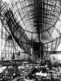 Hindenburg Airship under Construction Photographic Print