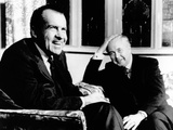 President Richard Nixon Meets with British Prime Minister Harold Wilson Photo