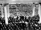 President Eisenhower's First Inauguration Against Backdrop of Crowd at the Capitol, Jan 20, 1953 Photographic Print