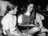 Caroline Kennedy, Almost 14 Years Old, with Friend at National Horse Show, Nov 11, 1971 Photographic Print