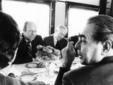 President Ford Meets with Leonid Brezhnev and Others Aboard a Russian Train to Vladivostok Photographic Print