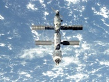 The International Space Station Is Seen from the Space Shuttle Atlantis, Sept 18, 2000 Photo