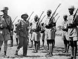 Deposed Ethiopian Leader, Haile Selassie with Ethiopians Soldiers Fighting for British, Mar 10 1941 Prints