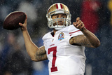 San Francisco 49ers and New England Patriots NFL: Colin Kaepernick Photographic Print by Steven Senne