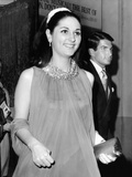 Lynda Bird Johnson, Escorted by Actor George Hamilton after Seeing the Broadway &#39;Mame&#39; Photographic Print