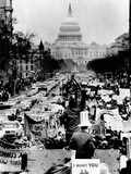 'Counter-Inaugural' Staged by Protesters at Richard Nixon's 1969 Inauguration Photographic Print