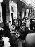 Mob Scene Outside President-Elect John Kennedy's Georgetown Home Photo