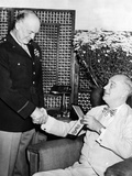 President Franklin Roosevelt Presents Legion of Merit to General Eisenhower Photographic Print