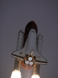 Space Shuttle Discovery Launched with Hubble Space Telescope in its Cargo Bay, April 24, 1990 Photographic Print