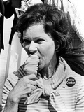 Rosalynn Carter Enjoys an Ice Cream Cone While Campaigning Photographic Print