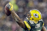 Green Bay Pakers and Detroit Lions NFL: Randall Cobb Fotografisk trykk av Morry Gash
