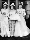 Kathleen, Rose, and Rosemary Kennedy, await their Presentation at Buckingham Palace, May 11, 1938 Photographic Print