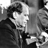 House Republican Leader Gerald Ford, Decries Inflation in a Press Conference Posters