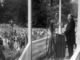 President Herbert Hoover Speaking at Gettysburg Battlefield Posters