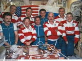 Astronauts and Cosmonauts Aboard Russia's Mir Space Station Prints