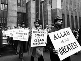 Black Muslims Picket NY Criminal Courts Building Where Two Nation of Islam Members Stand Trial Photographic Print