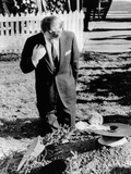 Robert Kennedy Prays at His Brother's Grave Photo