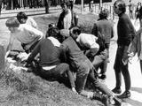 Kent State University Students Come to the Aid of a Wounded Youth Photo