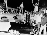 African American Jeer Police During the 1965 Watts Riots Photo