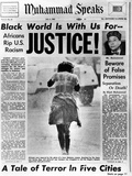 Black Muslim Newspaper, 'Muhammad Speaks', Emphasizes African Americans Abuse, Jul 5, 1963 Photographic Print