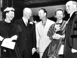 President and Mrs Eisenhower (Left) Talk with Cowboy Film Star Roy Rogers and His Wife, Dale Evans Photographic Print