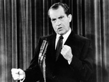 President Richard Nixon During a News Conference Photo