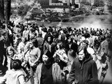 Kent State University Students Disperse as National Guardsmen Fire Tear Gas and Bullets into Crowd Photographic Print