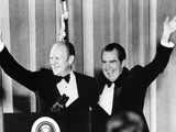 Pres Nixon and Vice Pres Gerald Ford at $1,000 a Plate Fund Raising Dinner, Mar 27, 1974 Photo