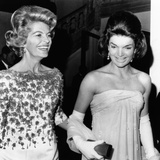 Jacqueline Kennedy with the Wife of the French Ambassador, Nicole Alphand Photographic Print