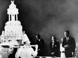 Huge Birthday Cake for President John Kennedy Posters