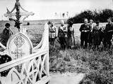 Memorial Day Observance at Grave of Quentin Roosevelt, Son of President Theodore Roosevelt, 1932 Photographic Print