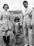 Jacqueline Kennedy, with Her Parents, Janet and John V Bouvier Photographic Print