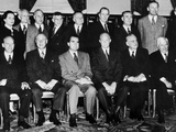 President-Elect Dwight Eisenhower Poses with His Cabinet Photographie