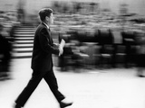 Pres John Kennedy Walking Fast after Press Conference in State Department Auditorium, Mar 11, 1963 Photographic Print
