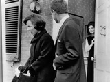 Jacqueline Kennedy, in Doorway of Her Temporary Georgetown Home after Leaving the White House Photographic Print