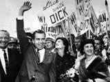 VP Richard Nixon and Wife Pat in San Francisco for 1956 Republican Nat'l Convention, Aug 28, 1956 Photo