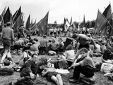 Communist Youth Group Protesting French Defensive Military Activity, West Germany, Jul 2, 1950 Photo