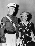 Mrs Dwight D Eisenhower with 22 Year Old John after West Point Graduation, Jun 6, 1944 Photographic Print