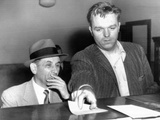 Meyer Lansky Is Booked on Vagrancy Charges at the West 54th Street Police Station in Manhattan Photo
