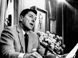 California Gov Ronald Reagan Speaking with Newsmen, Jan 3, 1971 Photo