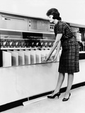IBM 1419 Magnetic Character Reader Read and Sorted Checks at Up to 1600 Per Minute, Aug 24, 1961 Photographic Print