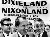 'Dixieland Is Nixonland', Reads a Big Sign Behind Republican Presidential Candidate, Richard Nixon Photo